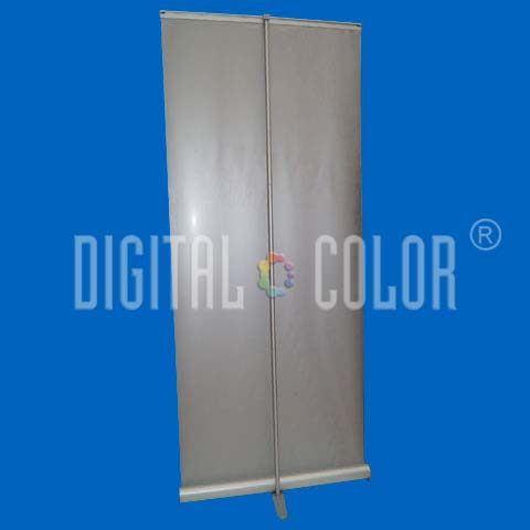 Roll Up Gray 0.85x2 mts Retráctil-Easy Pull Banner Stand 03