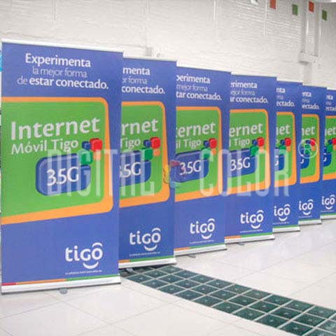 Easy Pull Roll Up Retráctil 1x2 m gray point Tigo