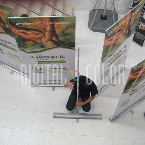 Easy Pull Roll Up Retráctil 1x2 m gray point armado
