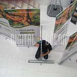 Easy Pull Roll Up Retráctil 1x2 m gray point