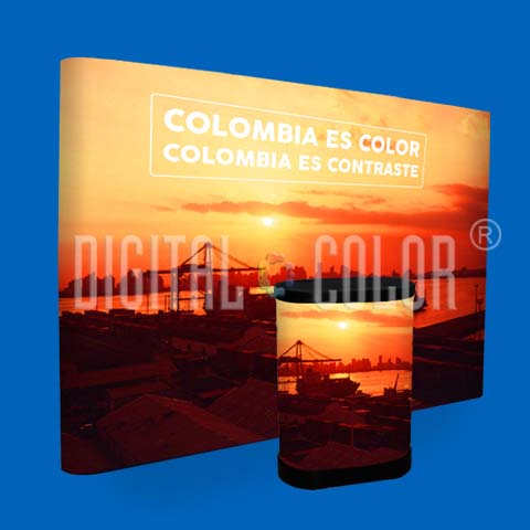 Wall Pop Up 3x4 Straight Skyline Backing Publicitario